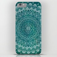 Teal Mandala Phone Case, iphone X 10 8 8 plus 7, 7 plus  Samsung, geometric mandala, stars