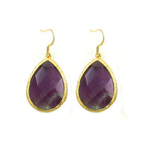 Amethyst Tear Drop Earring