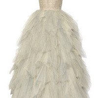 Oscar de la Renta Embroidered tulle gown  - 30% Off Now at THE OUTNET