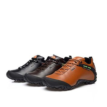 Hiking Shoes Men Wear-resistance Anti-slip Rubber-soles Durable Functional Outdoor Mountain Boots Sneakers