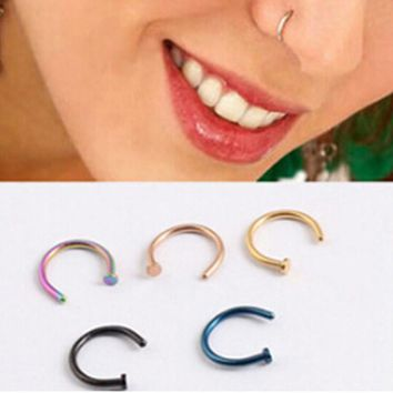 Medical Titanium Gold Silver nose ring nose ring nose clip Nose Ring Piercing Fake jewelry for women Bijoux