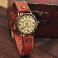 Fashion Ms retro watch old Roman dial watch