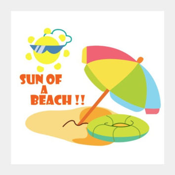 Sun of a Beach Square Art Prints | Artist : Shweta Paryani