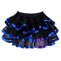 Brand Girls Black Organza Sexy Gothic Flared Ball Grown Skirt Mini Pettiskirt Tutu Women Skirts Petticoat For Dance, Party Wear