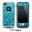 Glimmer Blue Turquoise Skin for the iPhone 5 or 4/4s LifeProof Case