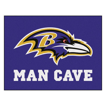 Baltimore Ravens NFL Man Cave All-Star Floor Mat (34in x 45in)