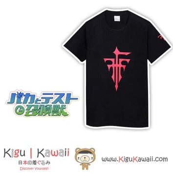 New Simple Black FFF Baka and Test Awesome Black Tshirt KK772