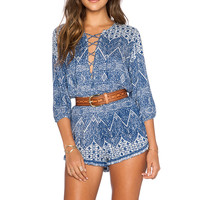 AUGUSTE Nomad Romper in Navy Wonder