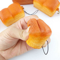 5cm Mini Kawaii Loaf Simulation Squishy Soft Cellphone Charm Bread Toast Strap l