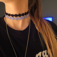 Daisy Lace Chokers with Charm