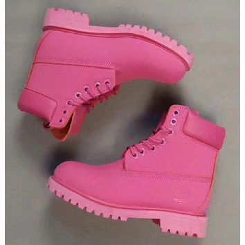 Timberland Rhubarb boots for men and women shoes waterproof Martin boots lovers Pieces of red