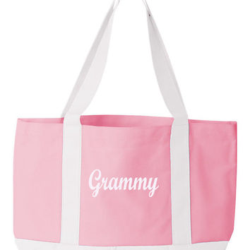 Personalized Tote Bag Monogrammed Beach Bag Wedding Party Gift Maid Of Honor and Bridesmaids Gift