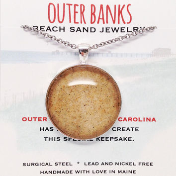 Outer Banks Sand Jewelry, Beach Sand Jewelry, OBX North Carolina, Surf Jewelry, Nautical Beach Gift, Coastal Living Inspired