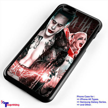 Suicide Squad Joker and Harley Quinn Poster - Personalized iPhone 7 Case, iPhone 6/6S Plus, 5 5S SE, 7S Plus, Samsung Galaxy S5 S6 S7 S8 Case, and Other