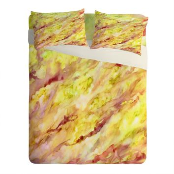 Rosie Brown Marble Veins Sheet Set Lightweight