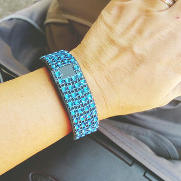 Non Adhesive Royal Blue FitBling for Fitbit Flex, Fitbit Charge, Fitbit Charge HR, Fitbit Surge, Fitbit Bling, Fitbit Cover, Fitbit Bracelet