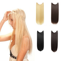 "24"" Straight Synthetic Hair Extensions - Transparent wire / No clips"