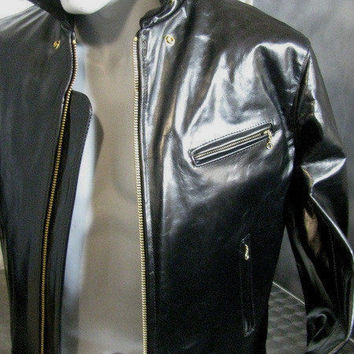 SCHOTT NYC BLACK jacket  689H HORSEHIDES LEATHERS NEW W TAGS  ASK 4 SIZES FIRST!