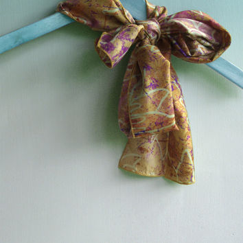 Silk Scarf Foulard, Skinny Scarf, Ladies Silk Scarves, Mother's Day Gifts