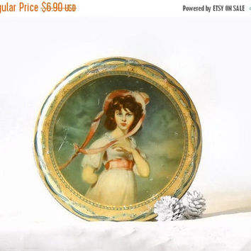 ON SALE - Vintage Biscuit Tin, Peek Frean England, Lawrence Pinkie Portrait