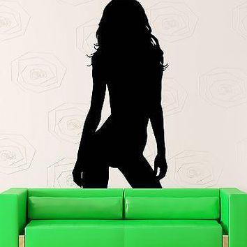 Wall Sticker Vinyl Decal Naked Girl Teen Long Hair Sexy Decor For Men Unique Gift (z1012m)