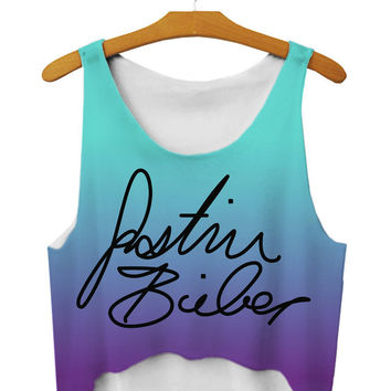Bralette Sexy Beach Comfortable Hot Summer Stylish Gradient Strong Character Print Camisole Vest [6048982977]