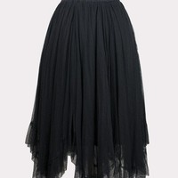 Black Tulle Pindot Skirt