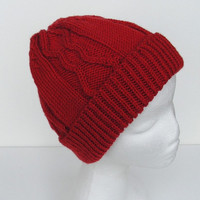 Red Wool Hat Winter Cap Adult Size Ready To Ship
