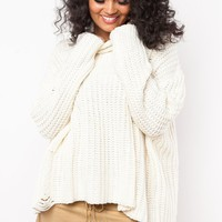 Free Falling for Me Sweater in Cream