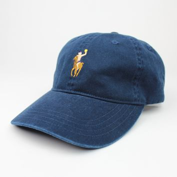 Water Polo Pony Dad Hat - Vintage Wash Navy