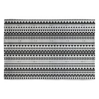 Allyson Johnson Black And White Aztec Pattern Woven Rug