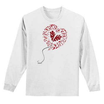 Broken Heart Popped Red Heart Balloon Adult Long Sleeve Shirt