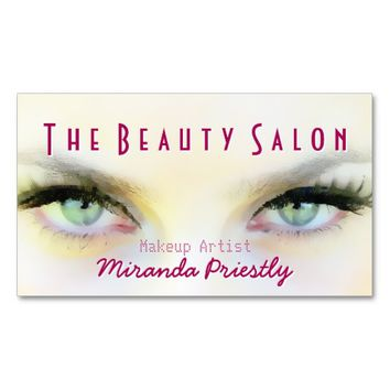 Eye Lashes Extensions Makeup Artist Cosmetologist Standard Business Card