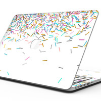 Multicolor Birthday Sprinkles Over White - MacBook Pro with Retina Display Full-Coverage Skin Kit