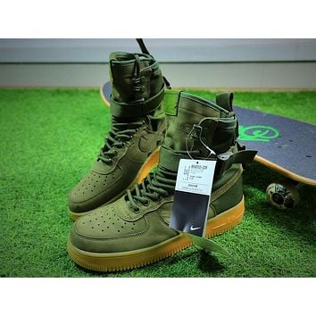 Nike Special Forces Air Force 1 SF AF1 Boots Army Green Shoes Men Sneaker - Sale