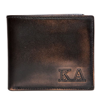KAPPA ALPHA Bifold Wallet - Mens Wallet - Leather Wallet - Bifold