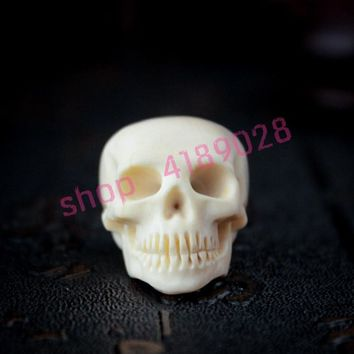 Skull Skulls Halloween Fall Natural antlers, hand carving , horn carving crafts accessories. Calavera
