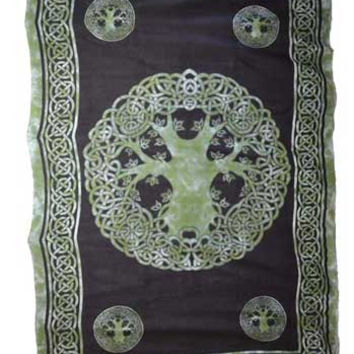 "Celtic Tree of Life 72"" x 108"" tapestry"