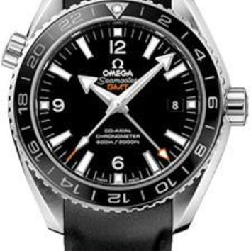 Omega - Seamaster Planet Ocean 600 M Co-Axial GMT 43.5 mm - Stainless Steel - Rubber Strap