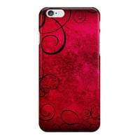 Red, Pink and Black iPhone Case, Samsung Galaxy Case, Gothic Swirls, Valentine Gift for Her