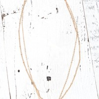 With Love From CA Layered Stone Necklace - Womens Jewelry - Gold - One