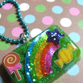 CANDY AND RAINBOWS Resin Necklace by Stargazer02 on Etsy