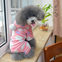 Adorable Pet Clothing Cute Puppy Fashion Pink & Peach Heart Sweatshirt for Animals-Size S