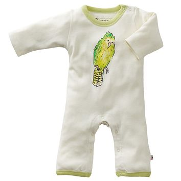 Kakapo Bird - Organic Baby Winter Jumpsuit
