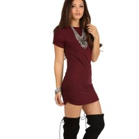 Burgundy All Day Everyday Tunic