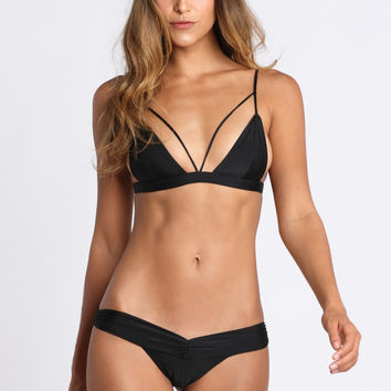 2015 Kai Lani Swimwear Bralet Top in Noir