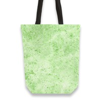 'Pastel green and white swirls doodles' Tote Bags by Savousepate on miPic