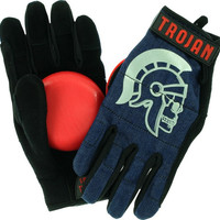 Trojan Denim Slide Glove Large/XL Blue With Venom Pucks