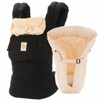 Ergobaby Original Bundle of Joy Infant Carrier with Insert - Black Camel