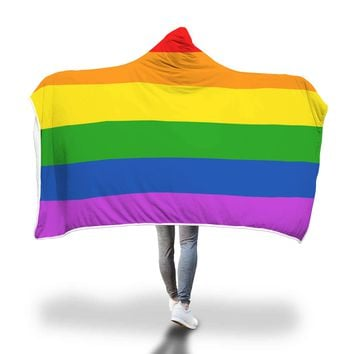 Pride Colors Hooded Blanket